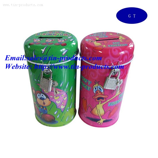 Tin coin bank,Metal Tin holder,Gift Tin box
