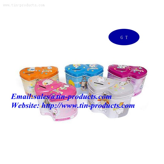 metal coin banks, metal money box, money tin