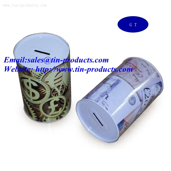 Tin coin bank,Metal Coin Banks,Metal Tin box