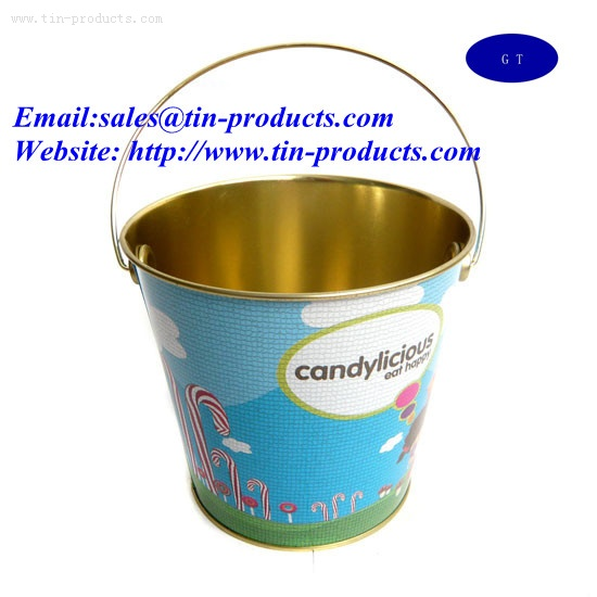 Metal Bucket,Gift Tin pail, Gift bucket,Metal pail