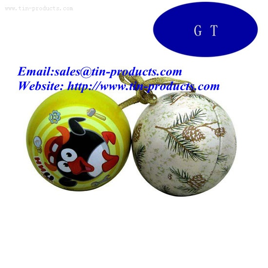 Tin ball, metal ball, tin ball box ,Can tin ball