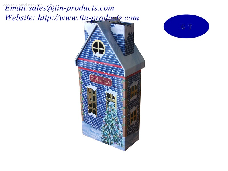 Wholesale House-Shaped Gift Tins from China