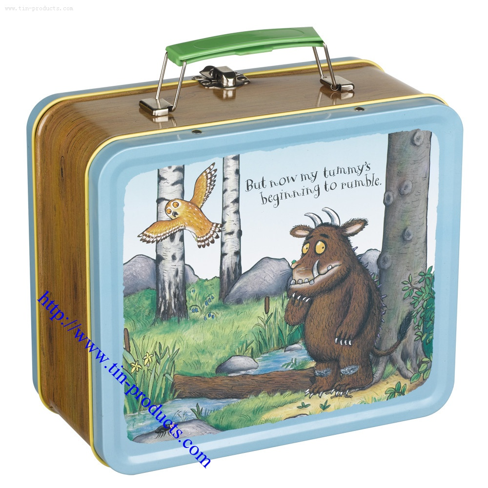 Metal Lunch Box Candy Classic Tin Food Storage